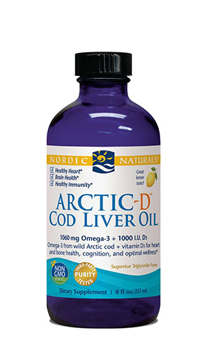 Omega oil, Arctic-D Cod Liver Oil (Lemon) 8 oz